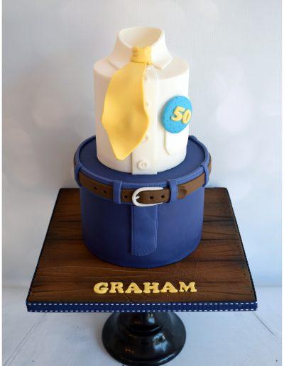 Male Theme Tie Cake
