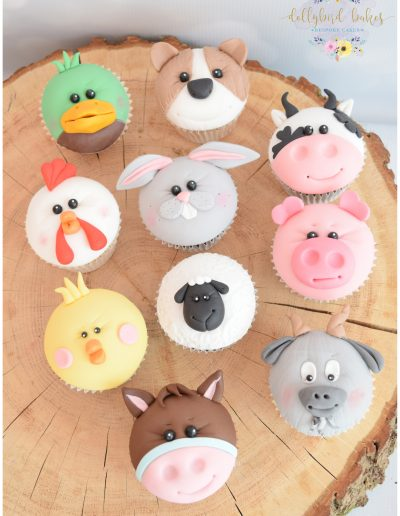 Farmyard Themed Cupcakes