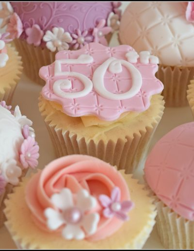 Pretty female cupcakes