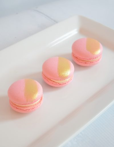 Macaron's with gold lustre