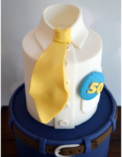 Male Themed Tie Cake