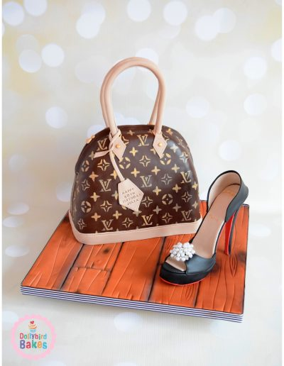 Louis Vuitton Alma Bag Cake & Sugar Shoe