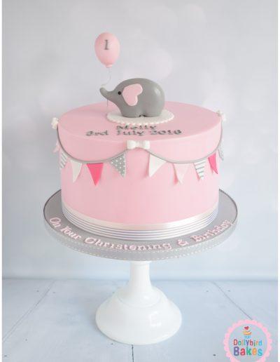 Christening Cake - Elephant