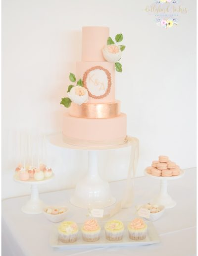 Rose Gold Dessert Table