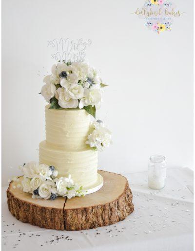Textured Butercream Finished Cake
