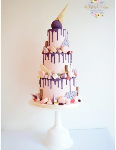 Tiered Katherine Sabbath inspired wedding cake - Knightor Winery
