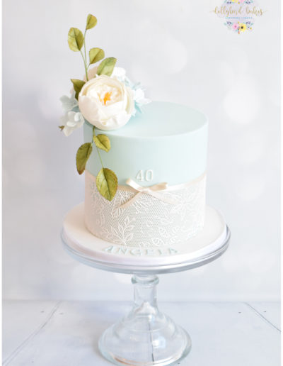Floral & Lace Celebration Cake - Dollybird Bakes