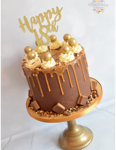 Chocolate & Salted Caramel Drip Cake
