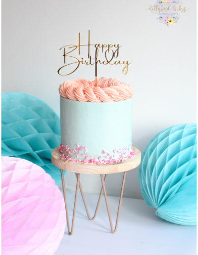 Simple Buttercream Birthday Cake - Dollybird Bakes