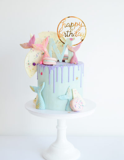 Mermaid Drip Cake - Dollybird Bakes