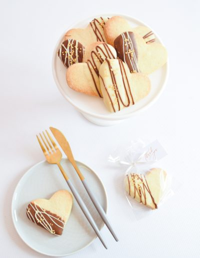 Chocolate Dipped Shortbread Biscuit Favours - Dollybird Bakes