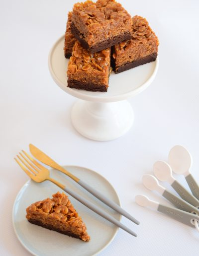 Salted Caramel Cornflake Brownie