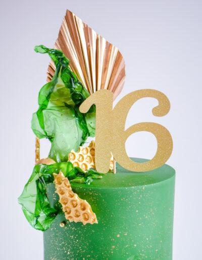 Close Up Modern Art Cake - Contemporary Texture